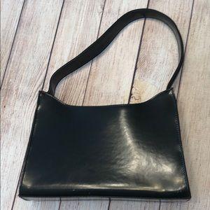 Nine West black patent shoulder bag